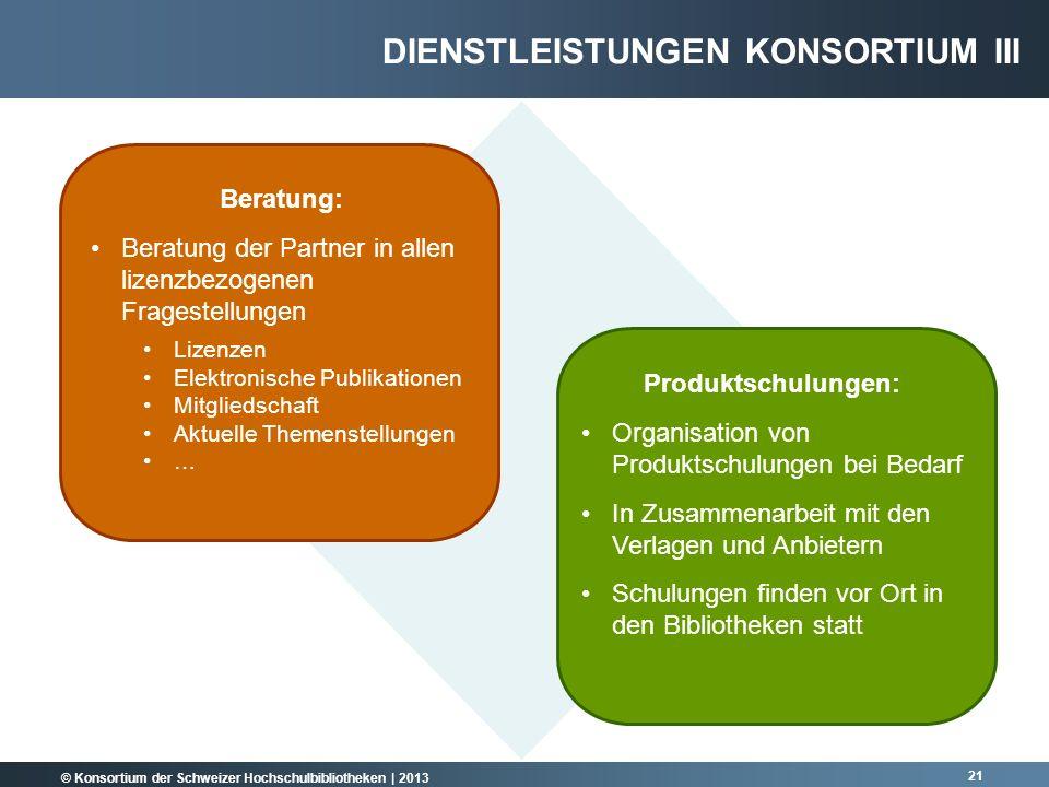 Dienstleistungen Konsortium III