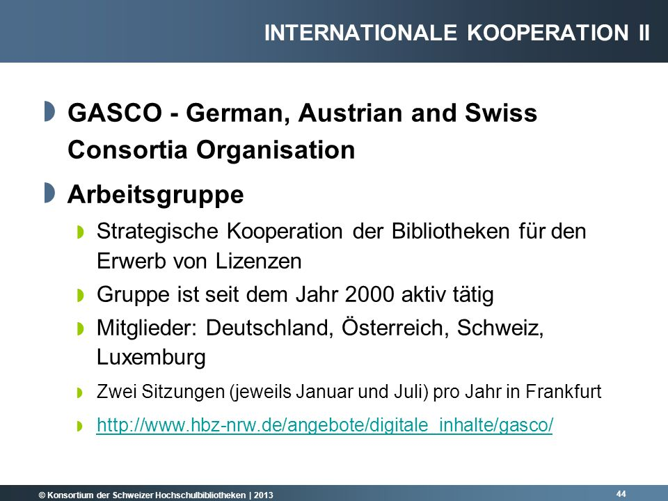 GASCO - German, Austrian and Swiss Consortia Organisation