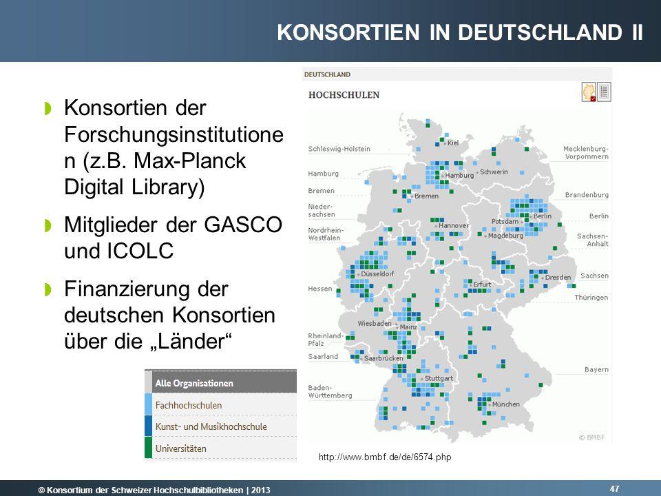 Konsortien in Deutschland II