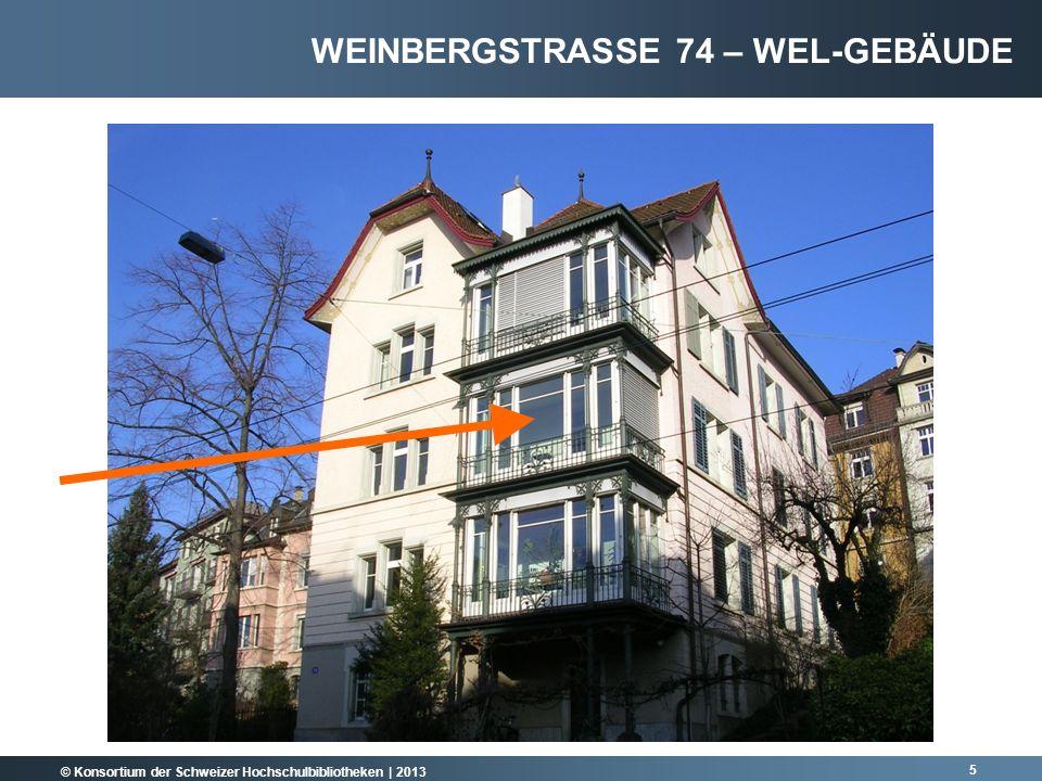 Weinbergstrasse 74 – WEL-Gebäude