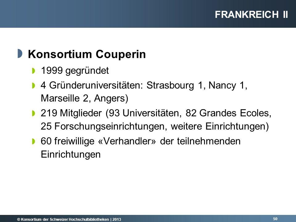 Konsortium Couperin Frankreich II 1999 gegründet