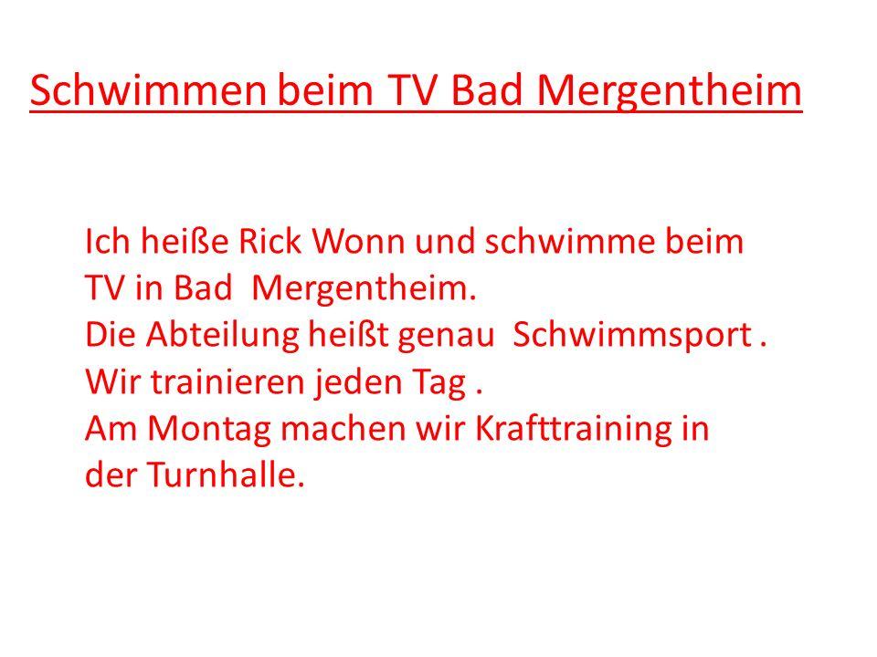 Schwimmen beim TV Bad Mergentheim
