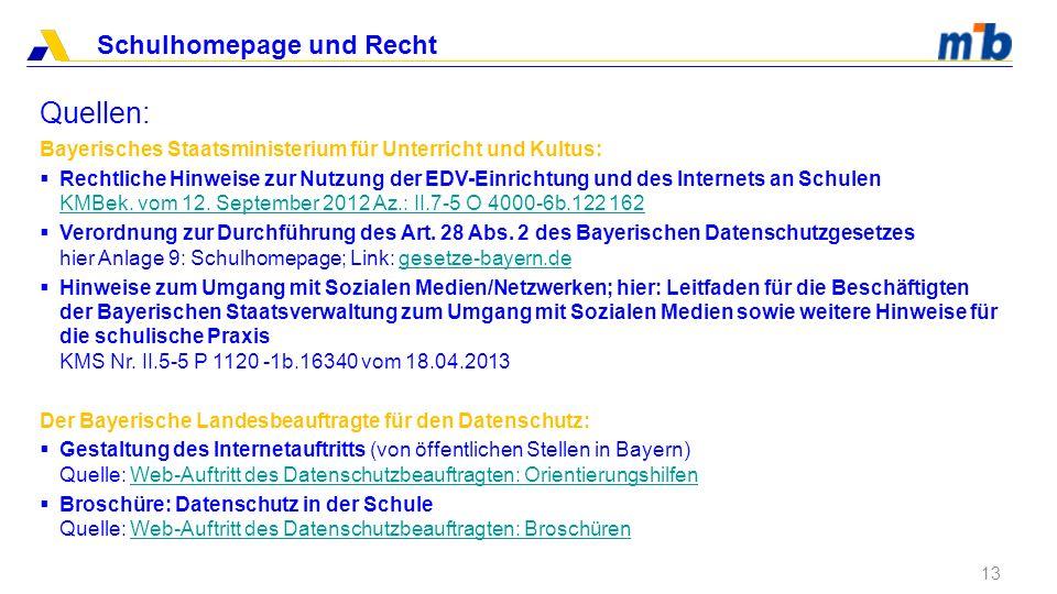 Quellen: Bayerisches Staatsministerium für Unterricht und Kultus: