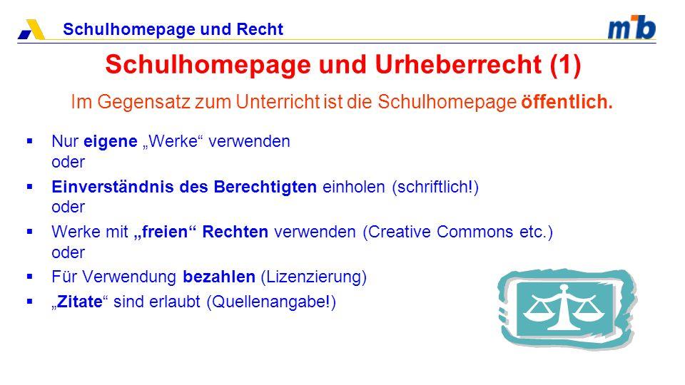 Schulhomepage und Urheberrecht (1)