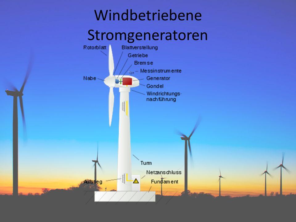 Windbetriebene Stromgeneratoren