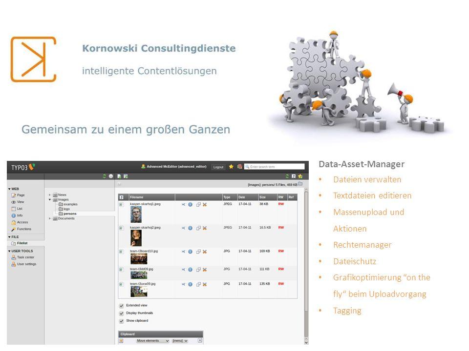 Data-Asset-Manager Dateien verwalten Textdateien editieren