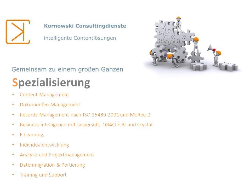 Spezialisierung Content Management Dokumenten Management