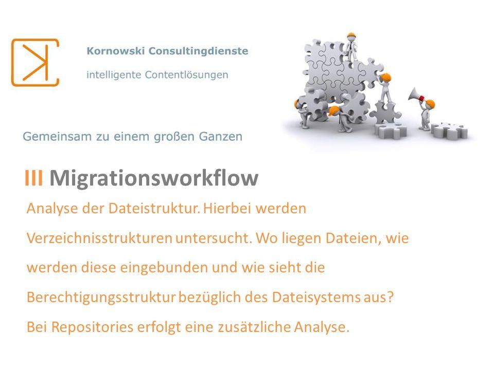 III Migrationsworkflow