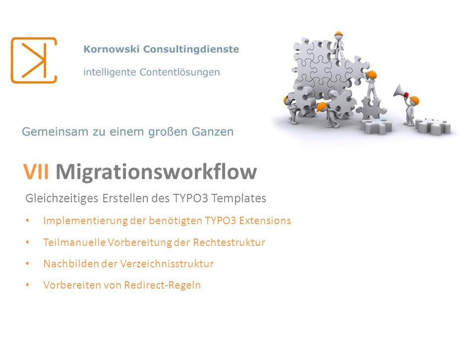 VII Migrationsworkflow