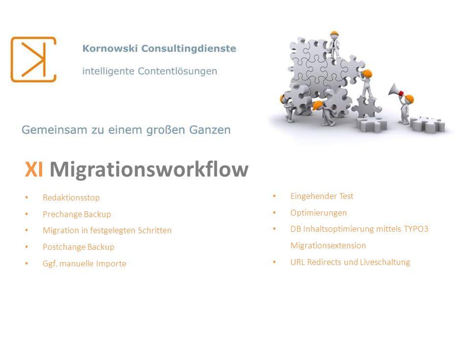 XI Migrationsworkflow