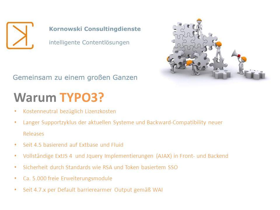 Warum TYPO3 Kostenneutral bezüglich Lizenzkosten