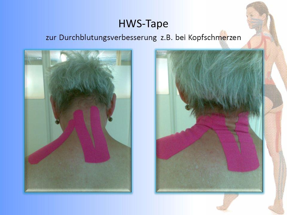 HWS-Tape zur Durchblutungsverbesserung z.B. bei Kopfschmerzen