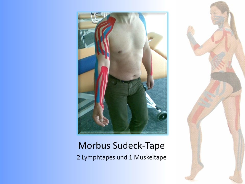 2 Lymphtapes und 1 Muskeltape