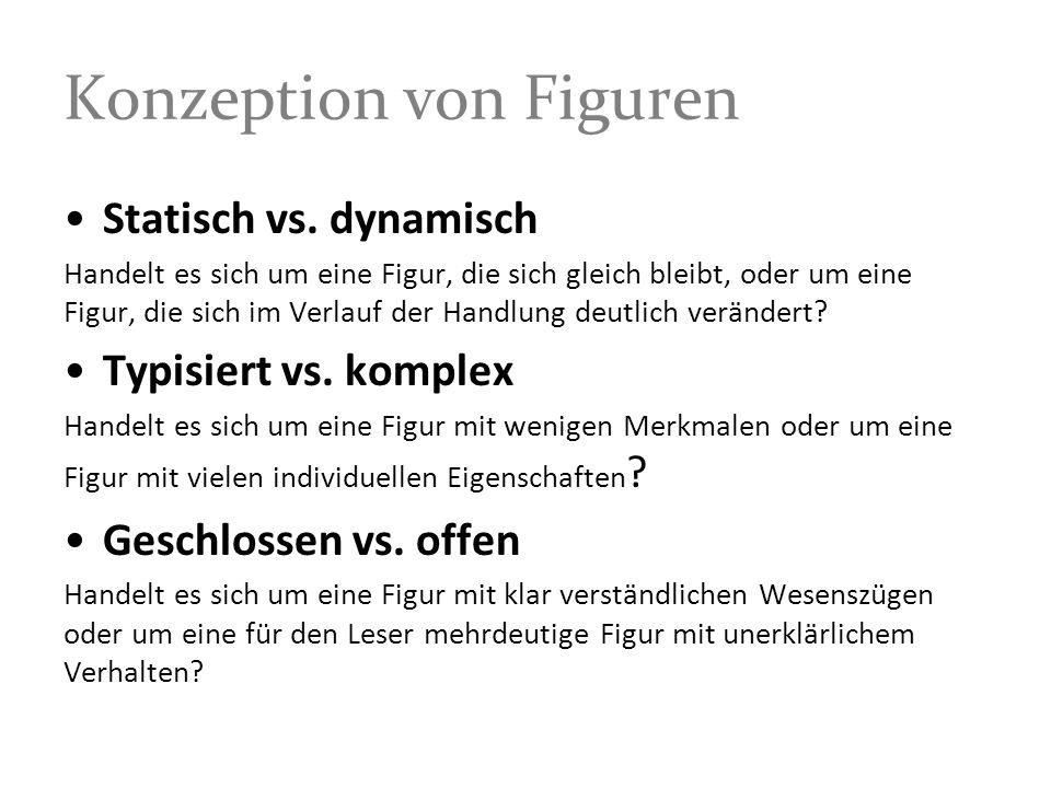 Konzeption von Figuren