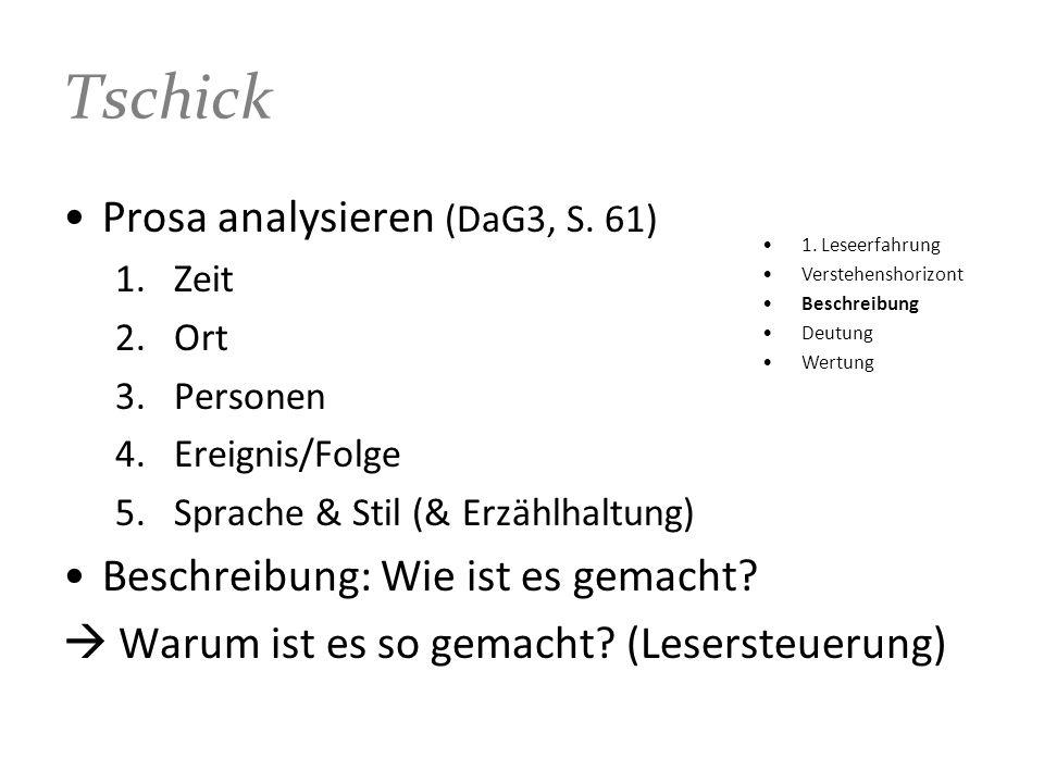 Tschick Prosa analysieren (DaG3, S. 61)