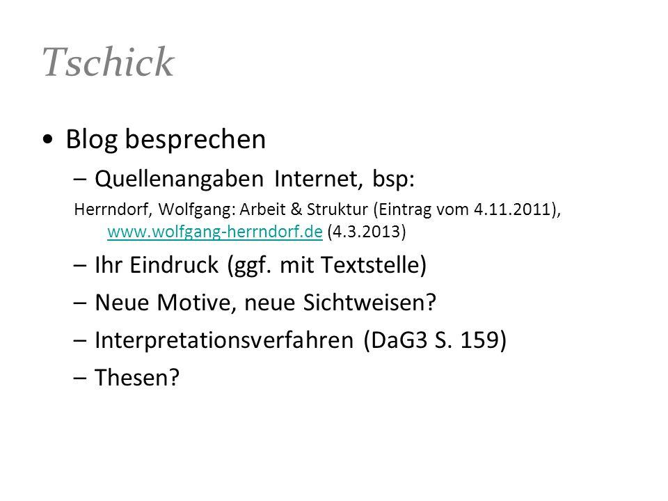 Tschick Blog besprechen Quellenangaben Internet, bsp: