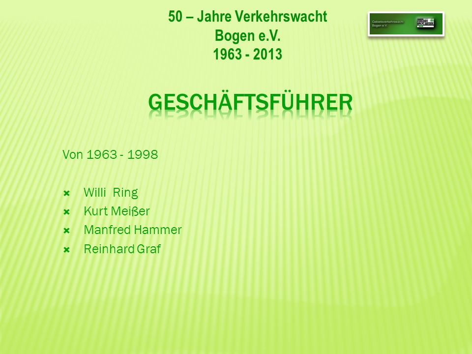 50 – Jahre Verkehrswacht Bogen e.V.