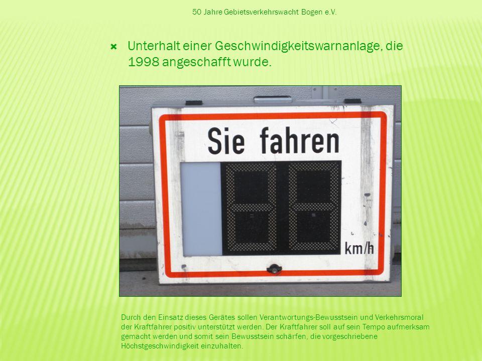 50 Jahre Gebietsverkehrswacht Bogen e.V.