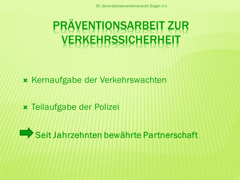 Präventionsarbeit zur Verkehrssicherheit