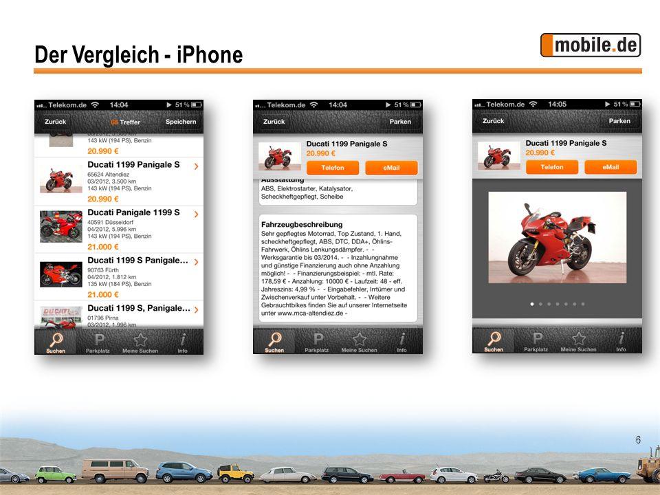 Der Vergleich - iPhone