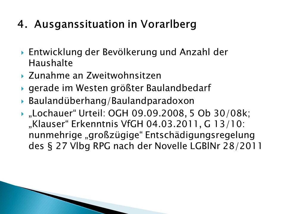 4. Ausganssituation in Vorarlberg