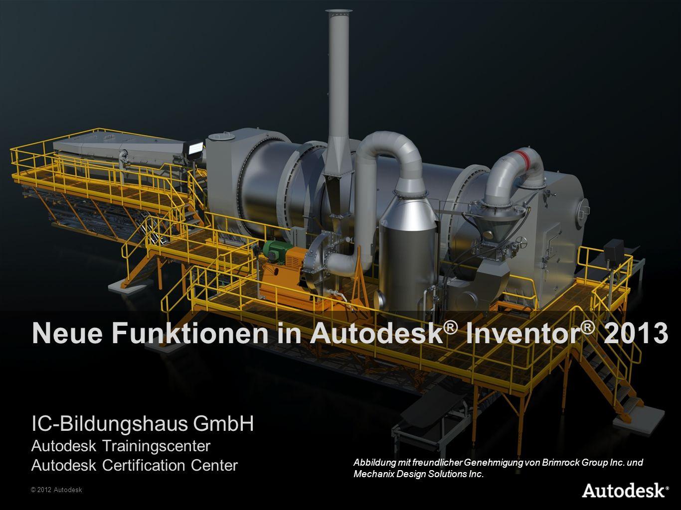 Neue Funktionen in Autodesk® Inventor® 2013