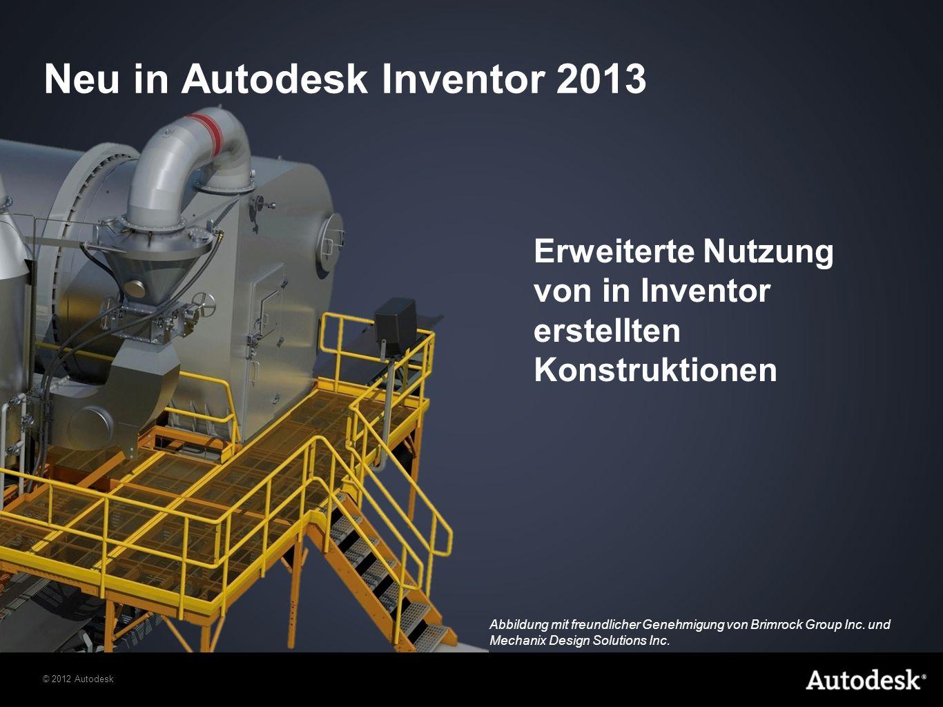 Neu in Autodesk Inventor 2013