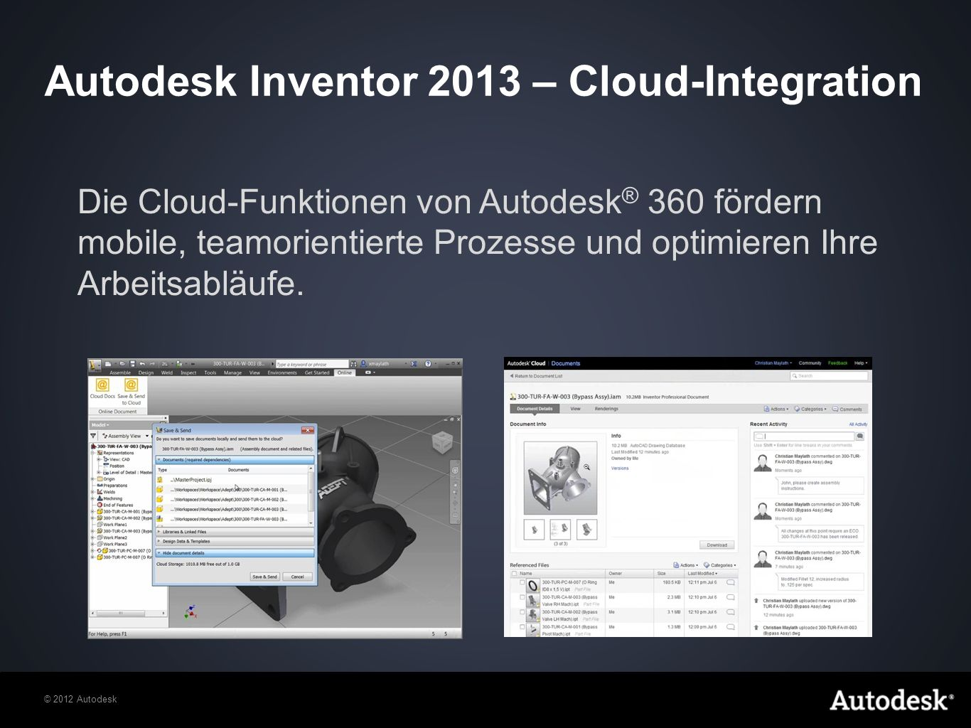 Autodesk Inventor 2013 – Cloud-Integration