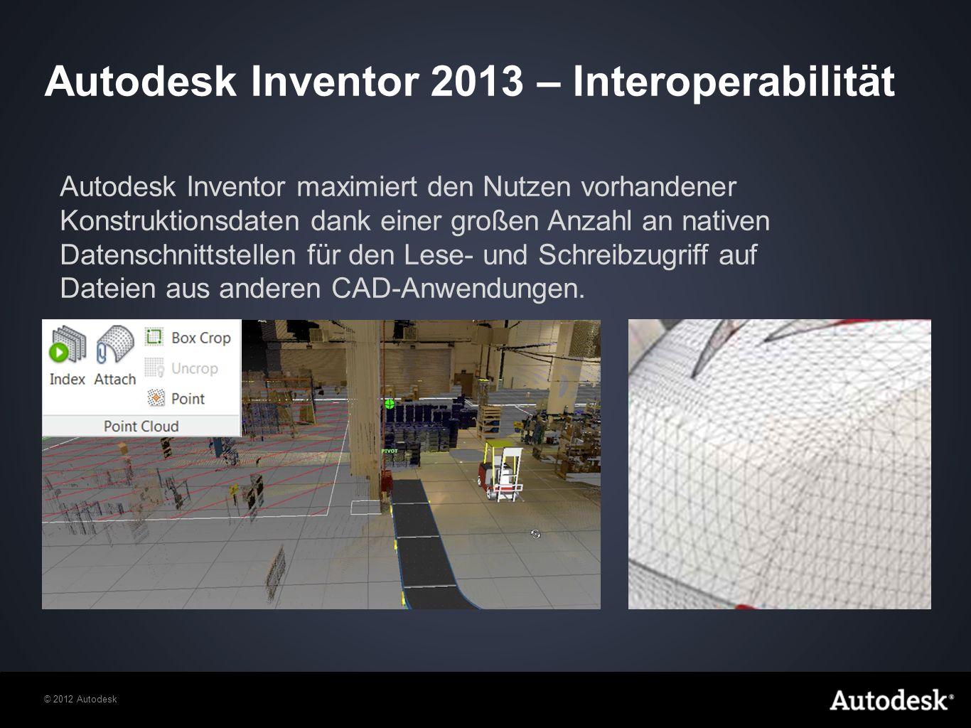 Autodesk Inventor 2013 – Interoperabilität