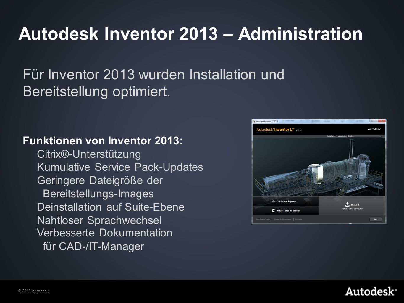 Autodesk Inventor 2013 – Administration