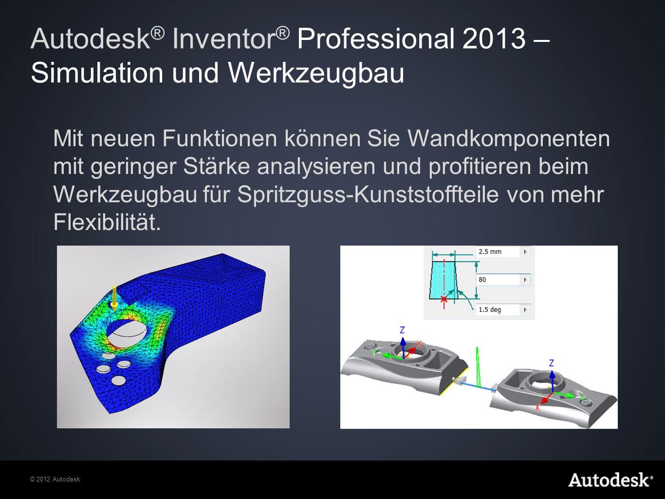 Autodesk® Inventor® Professional 2013 – Simulation und Werkzeugbau
