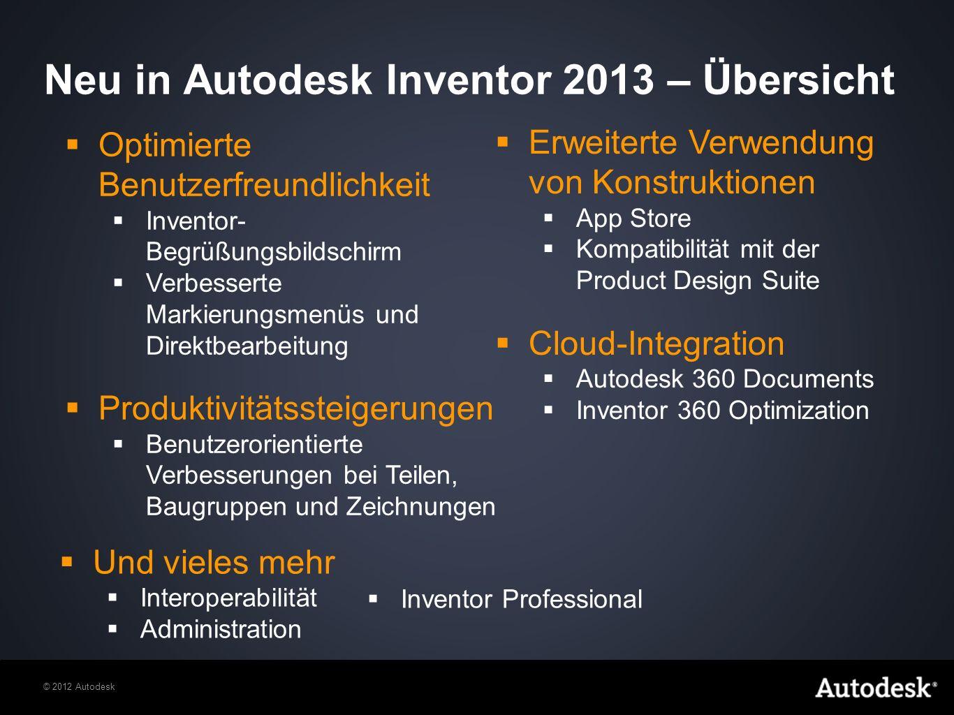 Neu in Autodesk Inventor 2013 – Übersicht