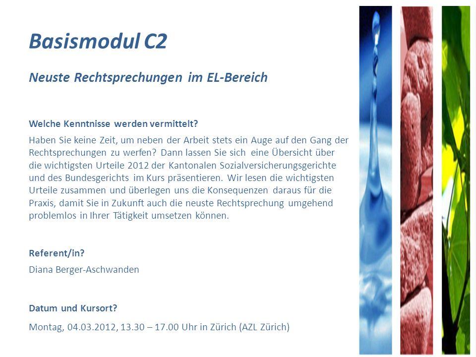 Basismodul C2 Neuste Rechtsprechungen im EL-Bereich