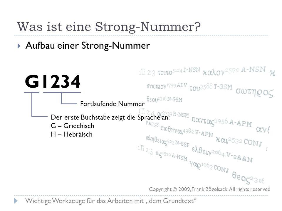 Was ist eine Strong-Nummer