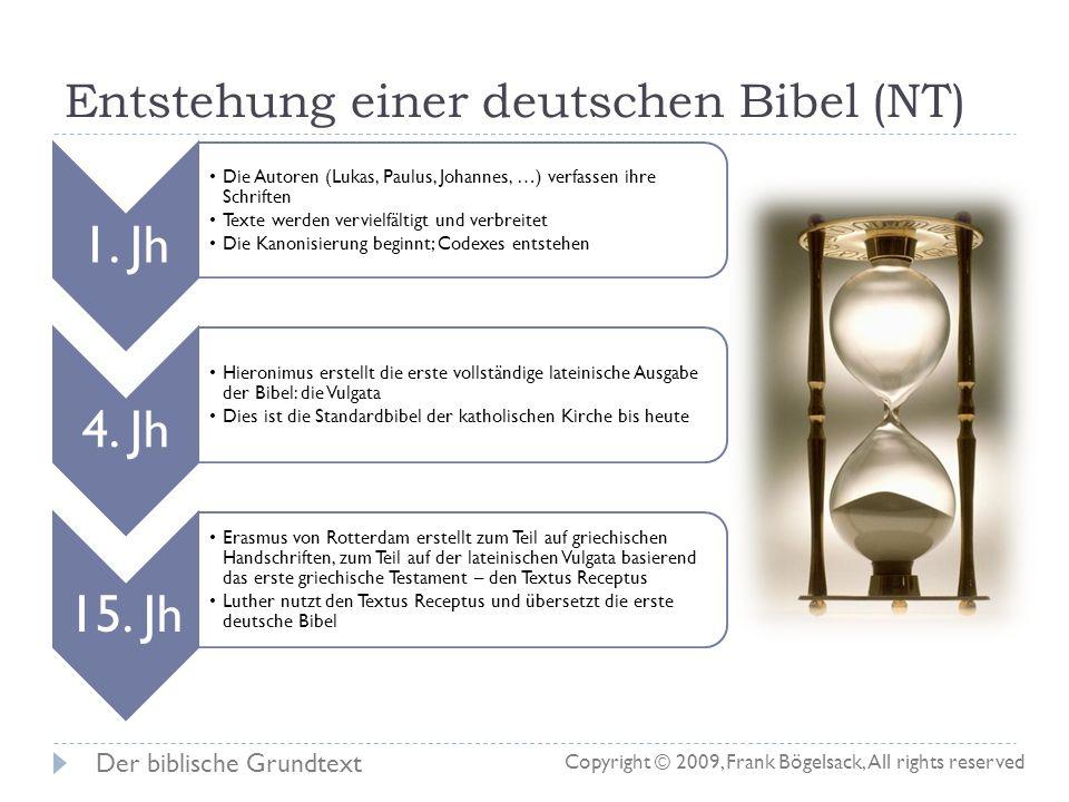 Entstehung einer deutschen Bibel (NT)