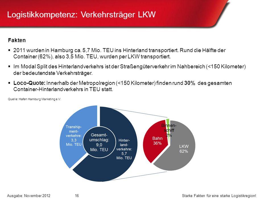 Logistikkompetenz: Verkehrsträger LKW