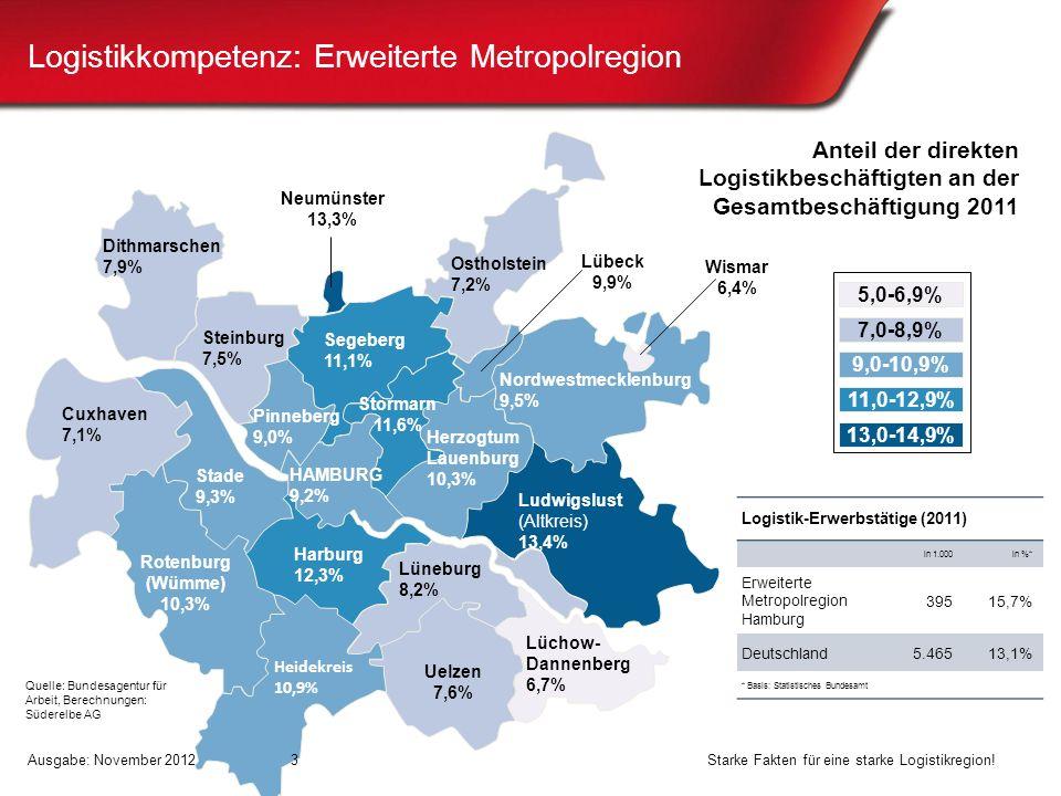Logistikkompetenz: Erweiterte Metropolregion
