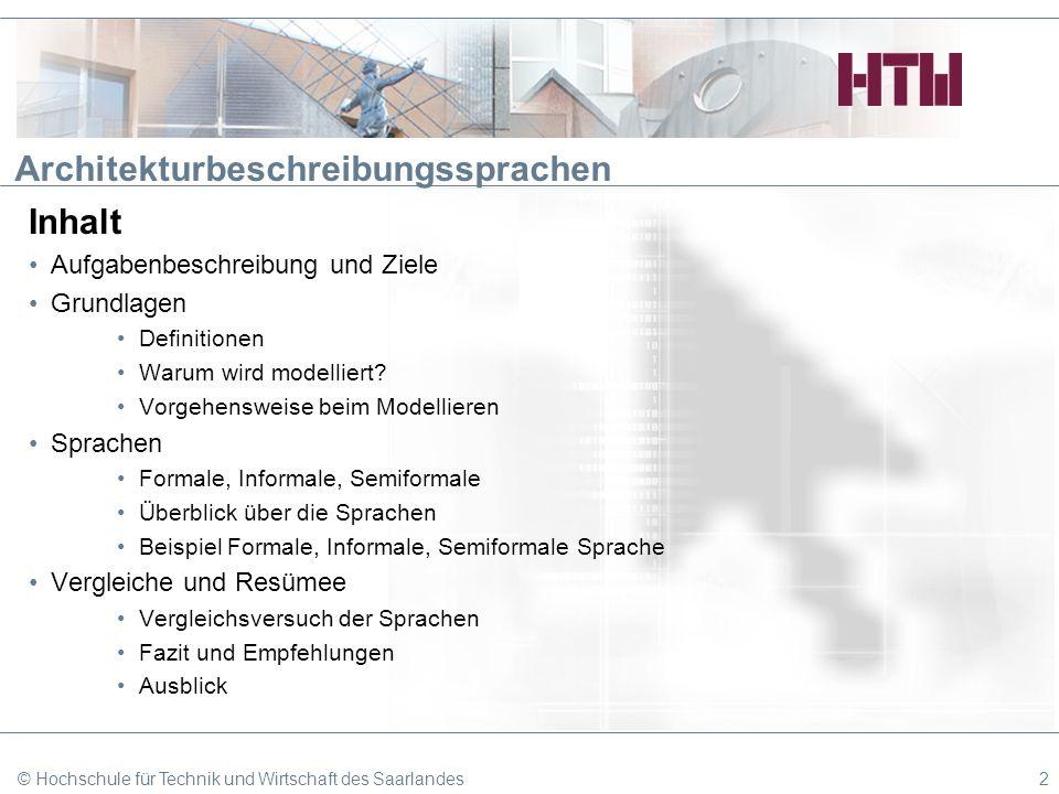 Architekturbeschreibungssprachen