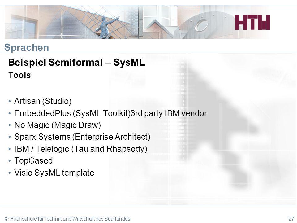 Beispiel Semiformal – SysML