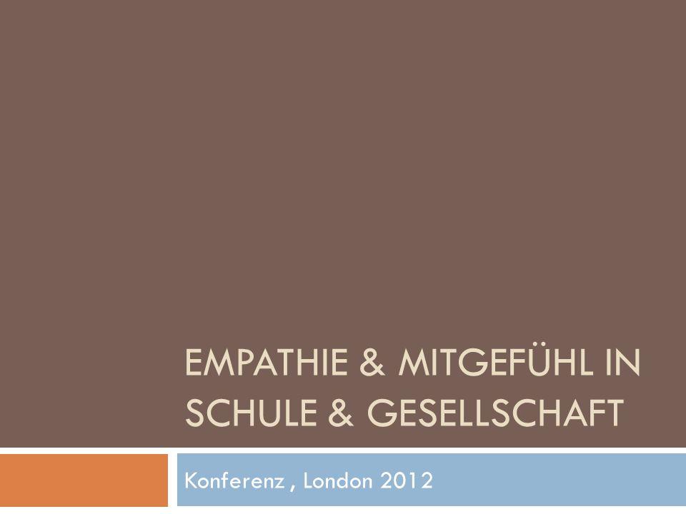 Empathie & Mitgefühl in Schule & Gesellschaft