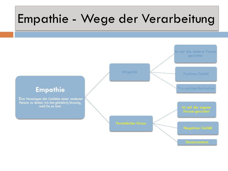 Empathie - Wege der Verarbeitung