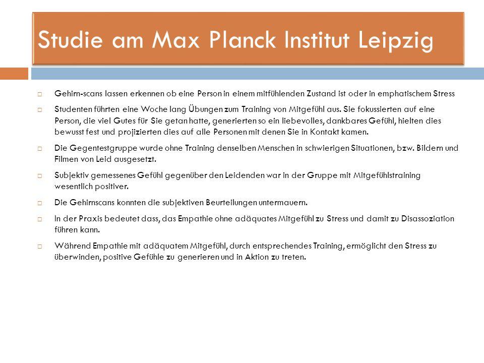 Studie am Max Planck Institut Leipzig