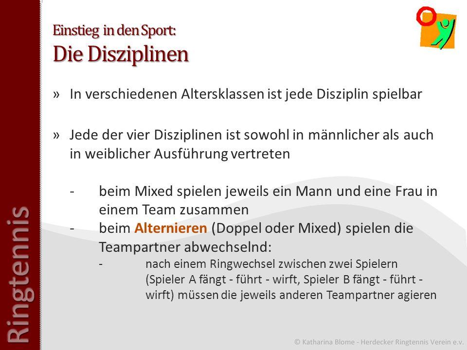 Einstieg in den Sport: Die Disziplinen