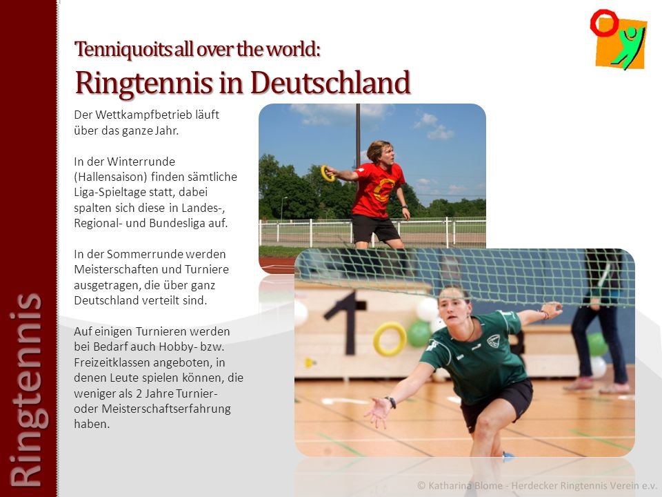 Tenniquoits all over the world: Ringtennis in Deutschland
