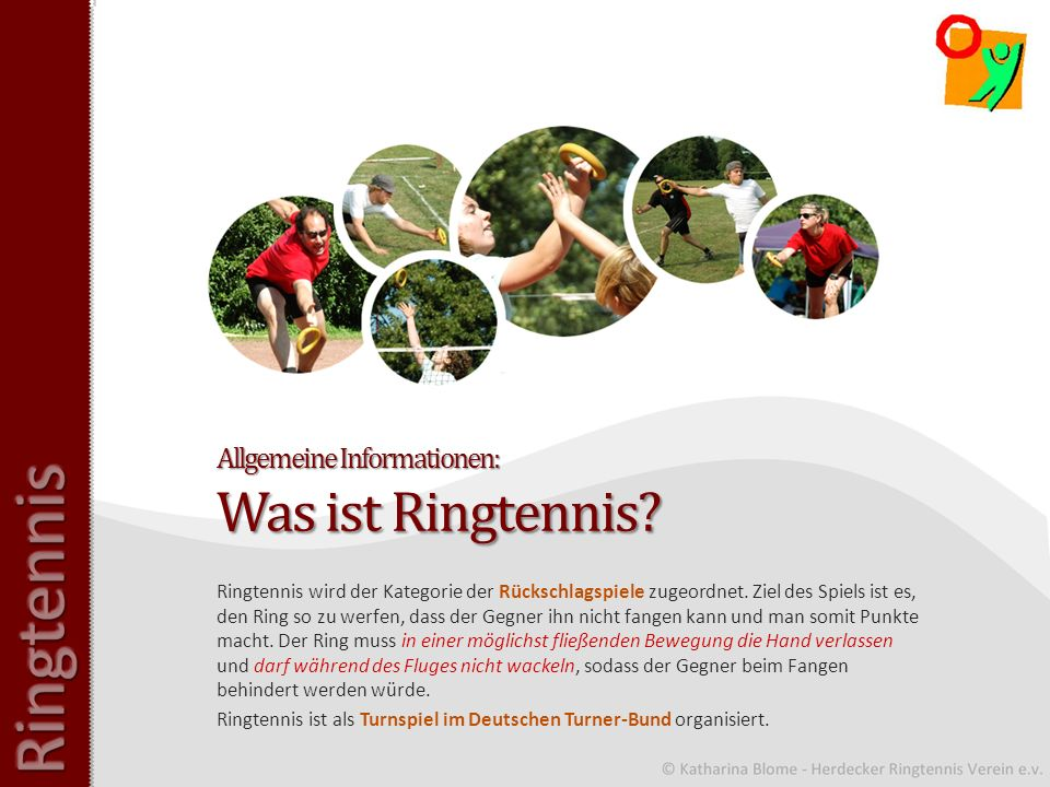 Allgemeine Informationen: Was ist Ringtennis