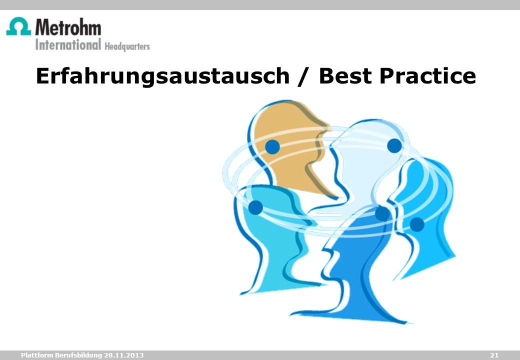 Erfahrungsaustausch / Best Practice