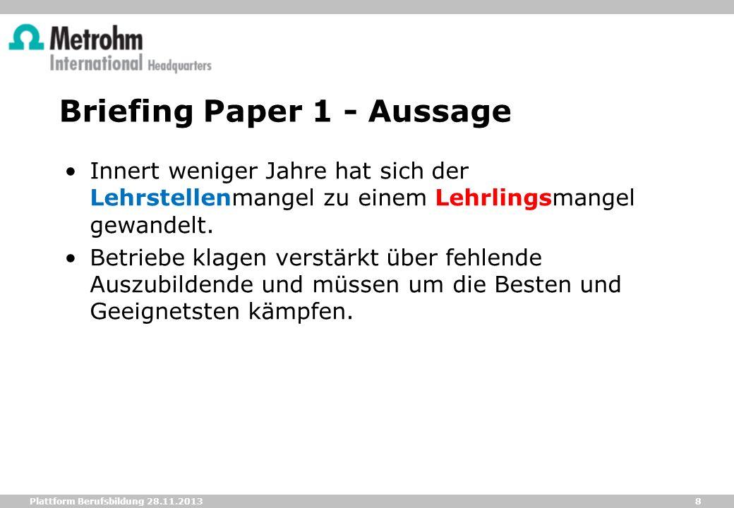 Briefing Paper 1 - Aussage