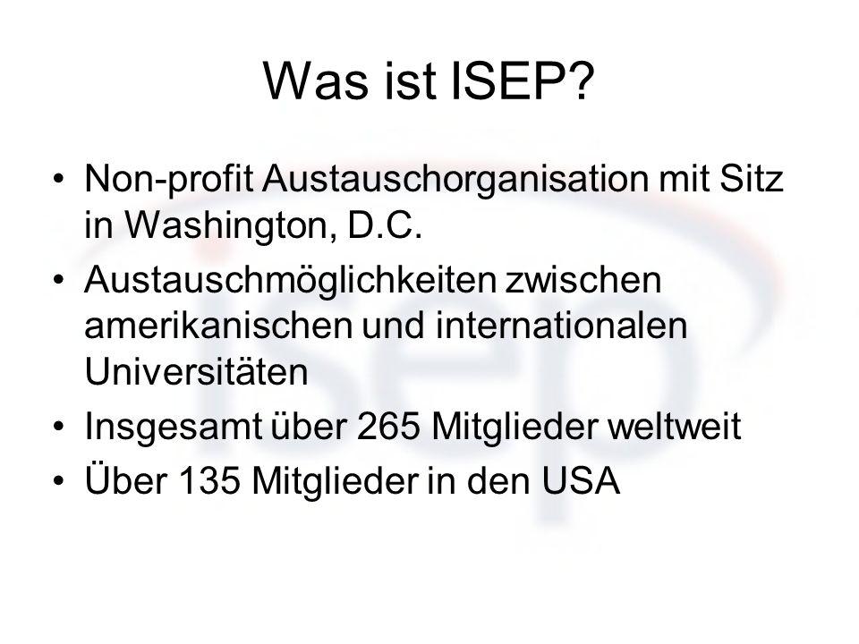 Was ist ISEP Non-profit Austauschorganisation mit Sitz in Washington, D.C.