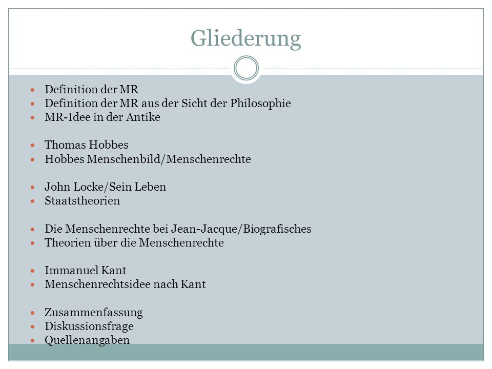 Gliederung Definition der MR
