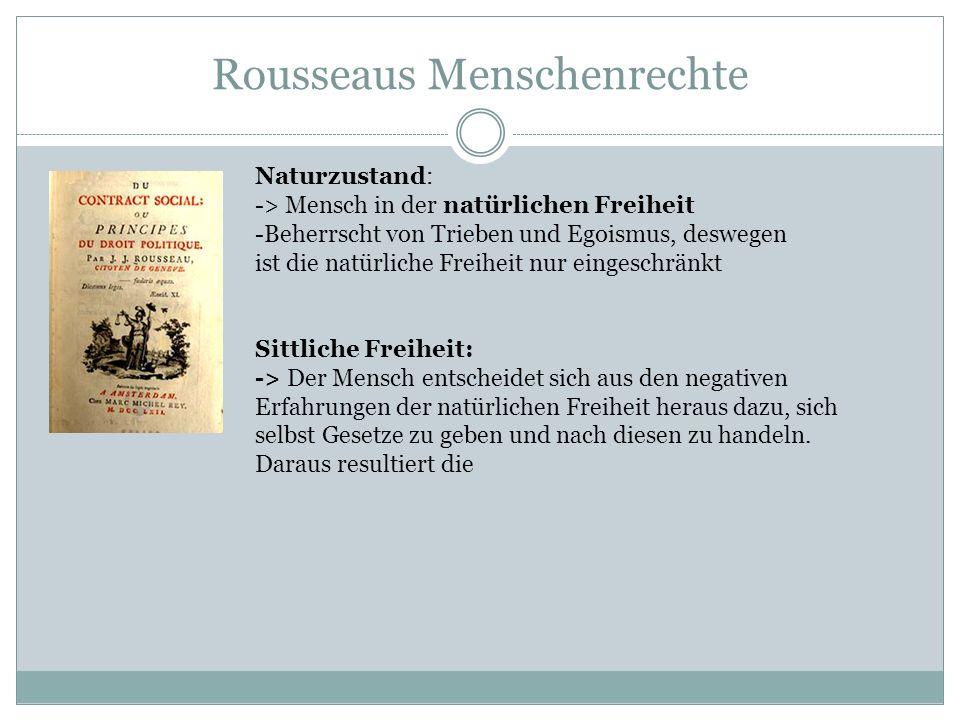 Rousseaus Menschenrechte